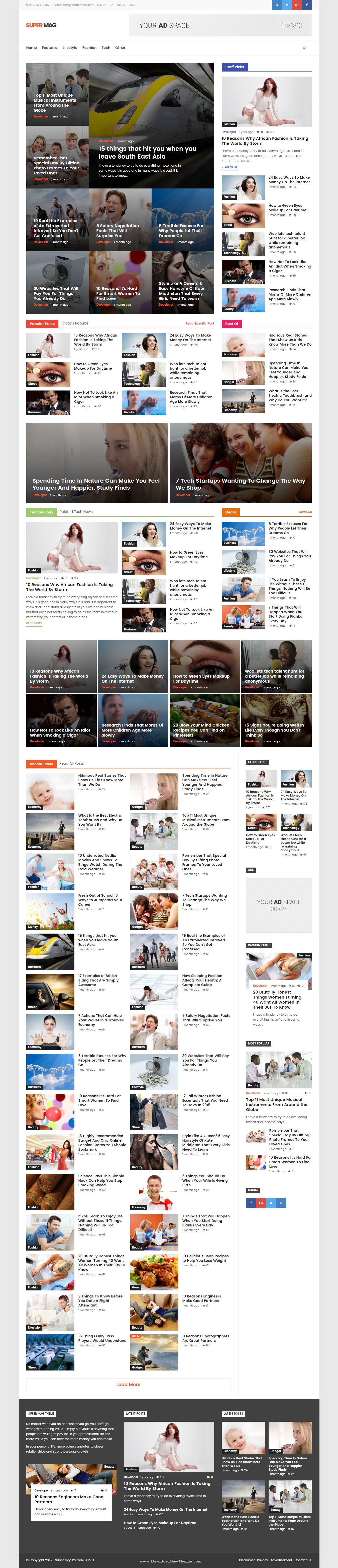 Super Mag New News Magazine and Blog #WordPress Theme