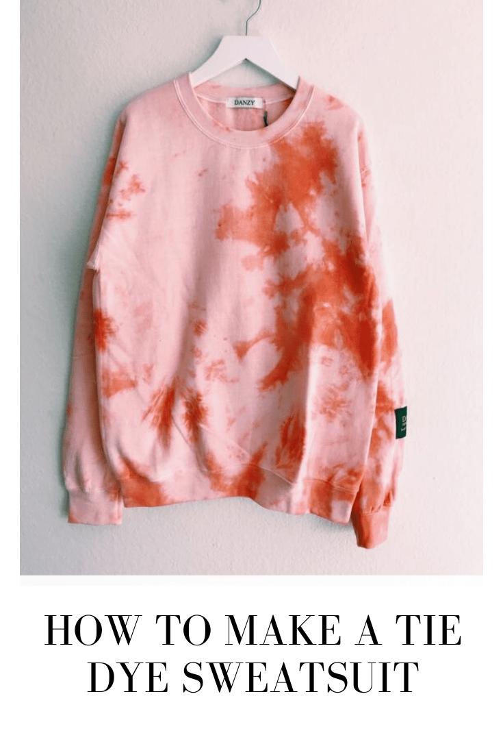 Tie Dye Sweatsuit Tutorial Using the Scrunch Technique - One CrafDIY Girl