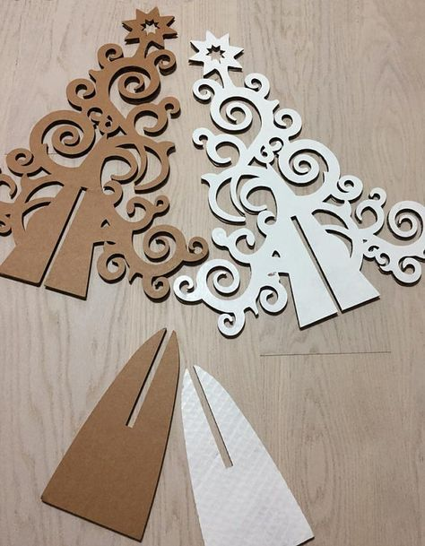 Christmas decoration, cardboard Christmas tree design alternative Christmas eco design