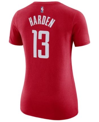 04468a2f Nike Women's James Harden Houston Rockets Name & Number Player T-Shirt - Red  XL