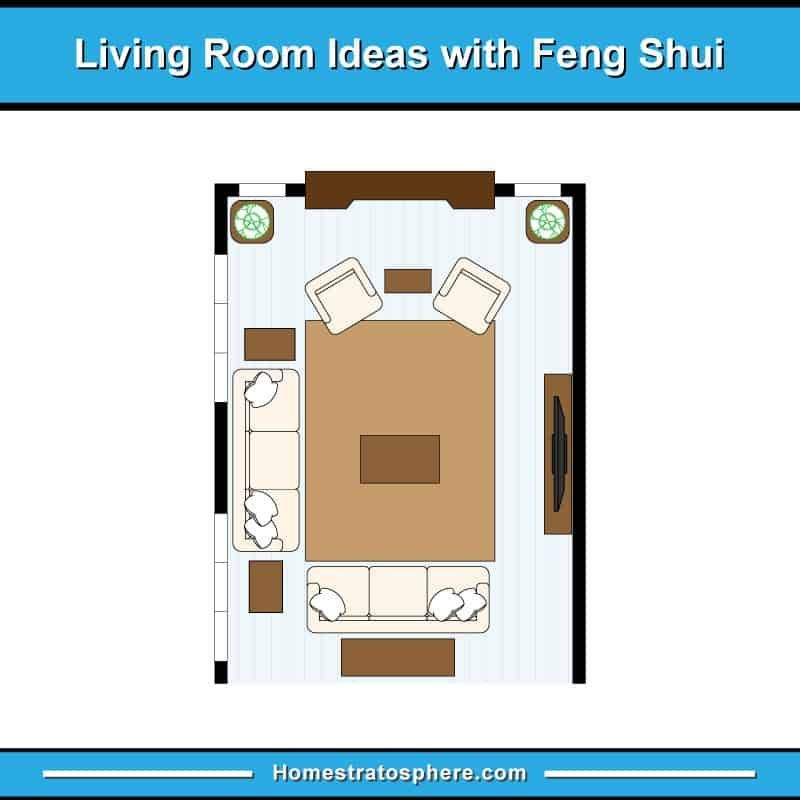 81 Feng Shui Living Room Rules Colors And 12 Layout Diagrams 81