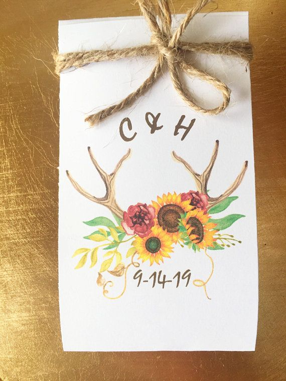 Boho Wedding Favors 130 Flower Seed Favors Wedding Favors Flower ...