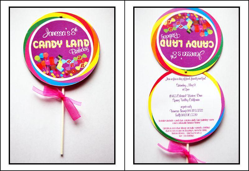 candyland invites u0026 favor tags via pretty n prints