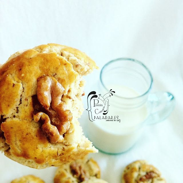 Paladares {Sabores de nati }: Galletas chinas con nueces - Cookies - walnut cookies - chinese walnut cookies