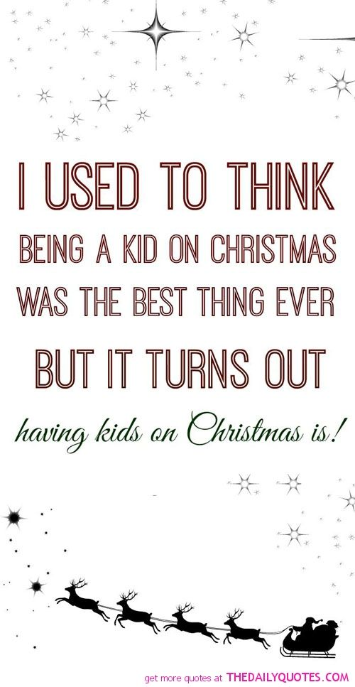 I cannot wait for Christmas morning to spend it with my kids. To ...