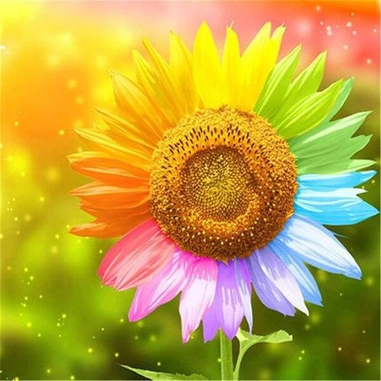 Sunflower Rainbow   Diamond Art   Diamond Painting