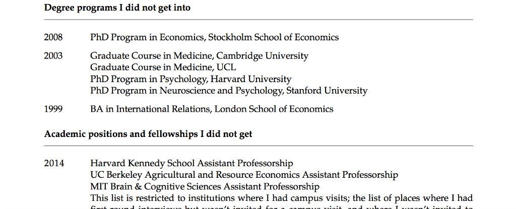 This Princeton Professor's CV of Failures Is Something We