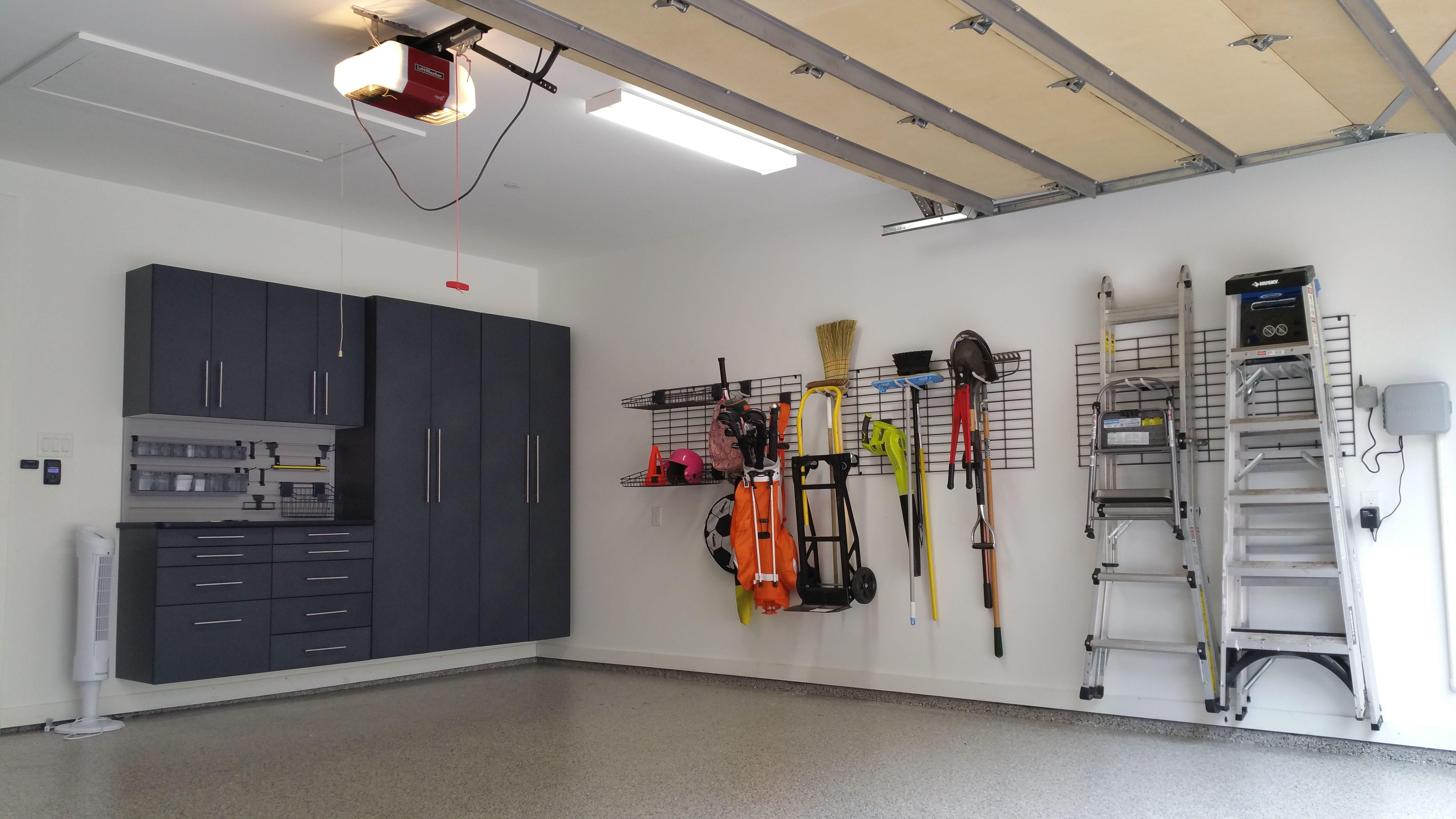Amazing Garage Organization From Monkey Bar Storage Cabinets Shelving Epoxy Flooring Storage Monkey Bar Storage Garage Storage Systems