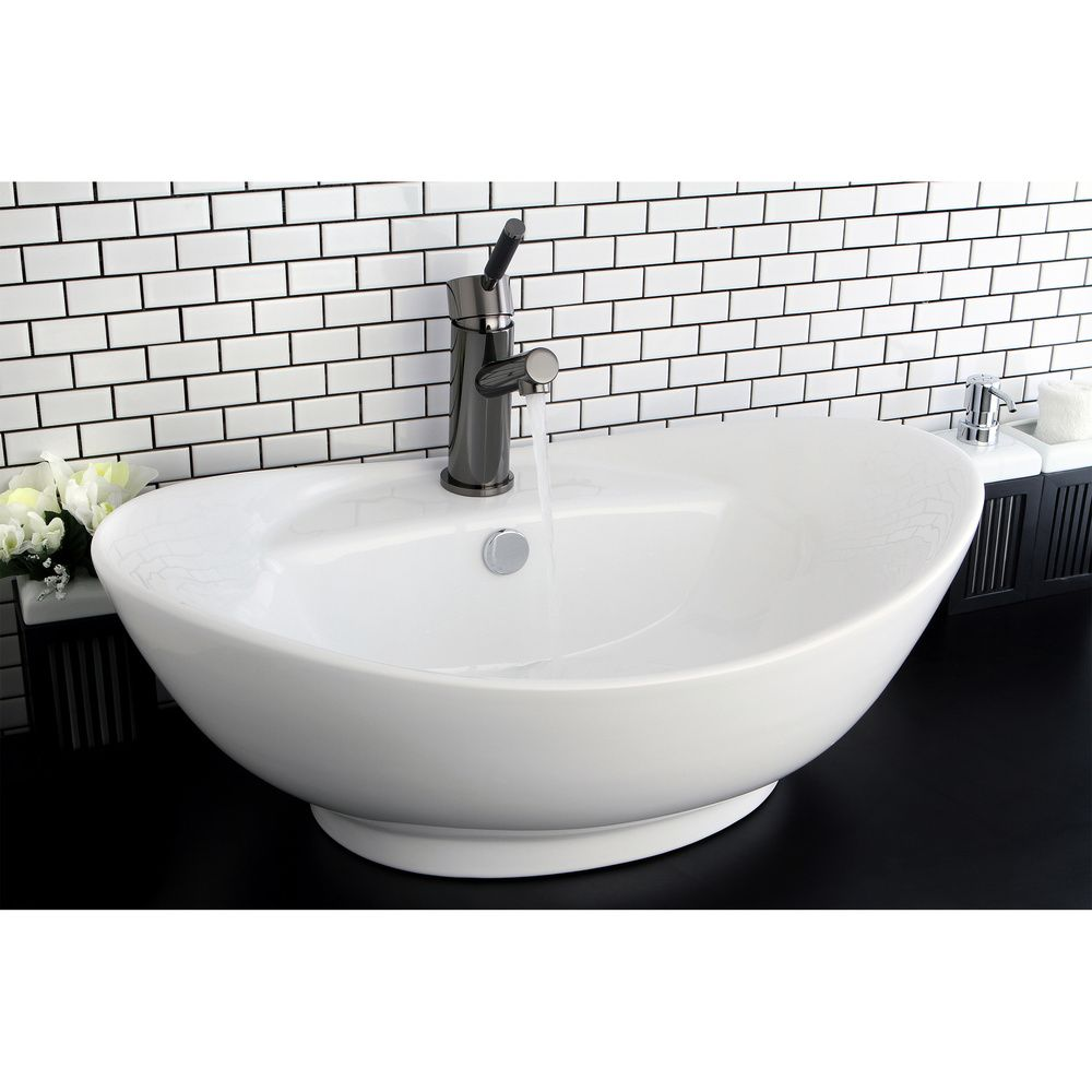 Overstock Com Tips Ideas: Oval Vitreous China White Bathroom Vessel Sink