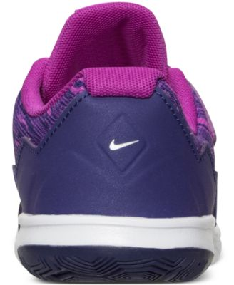 separation shoes 9a3e7 5fb0d Nike Little Girls  Flex Experience 4 Print Running Sneakers from Finish  Line - Purple 1.5