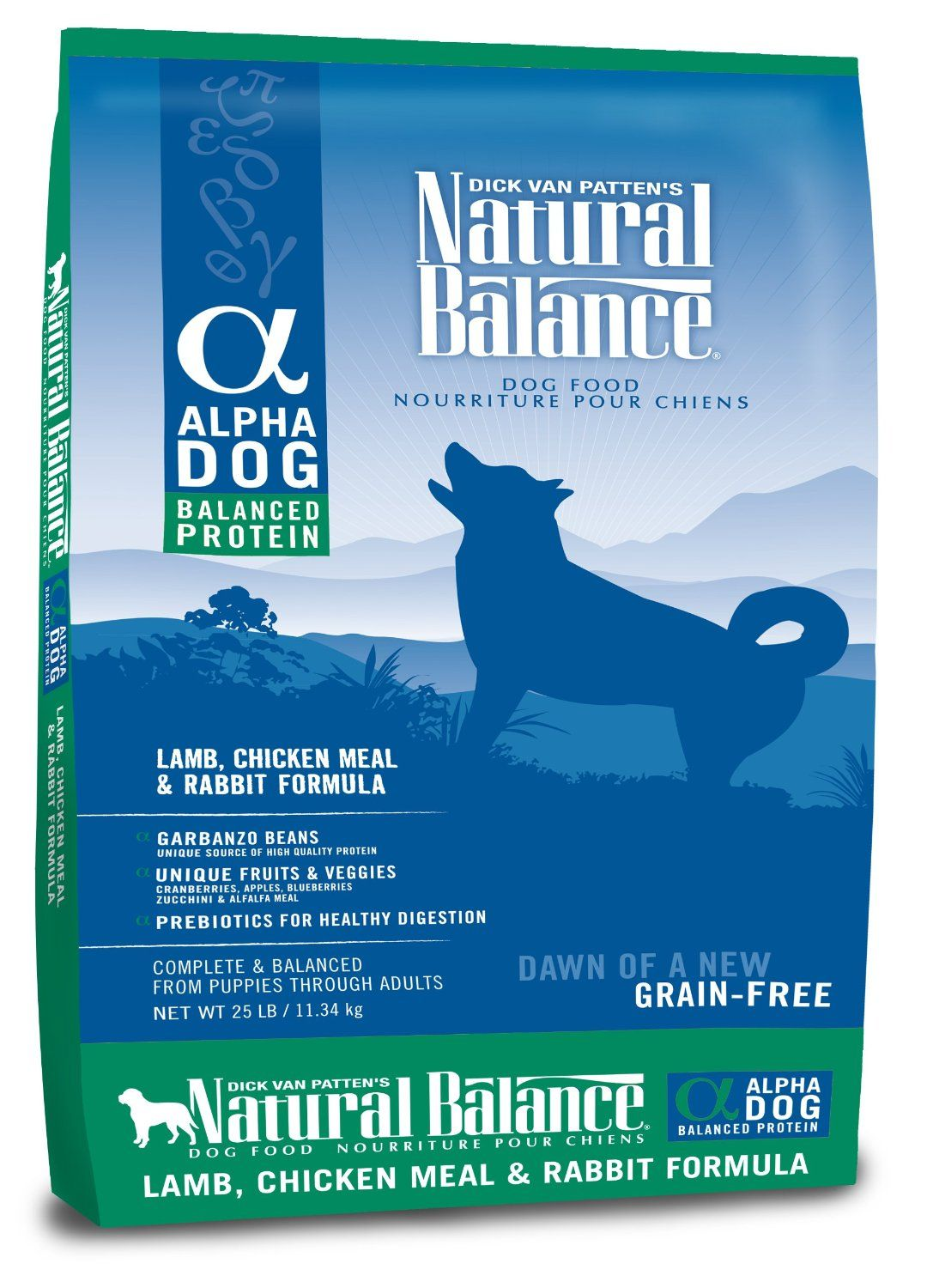 Natural Balance Alpha Grain Free Lamb Chicken Meal And Rabbit Formula For Dogs 25 Pound Bag Dry Pet Food Pet Supplies Amazon Com Hunde Futter