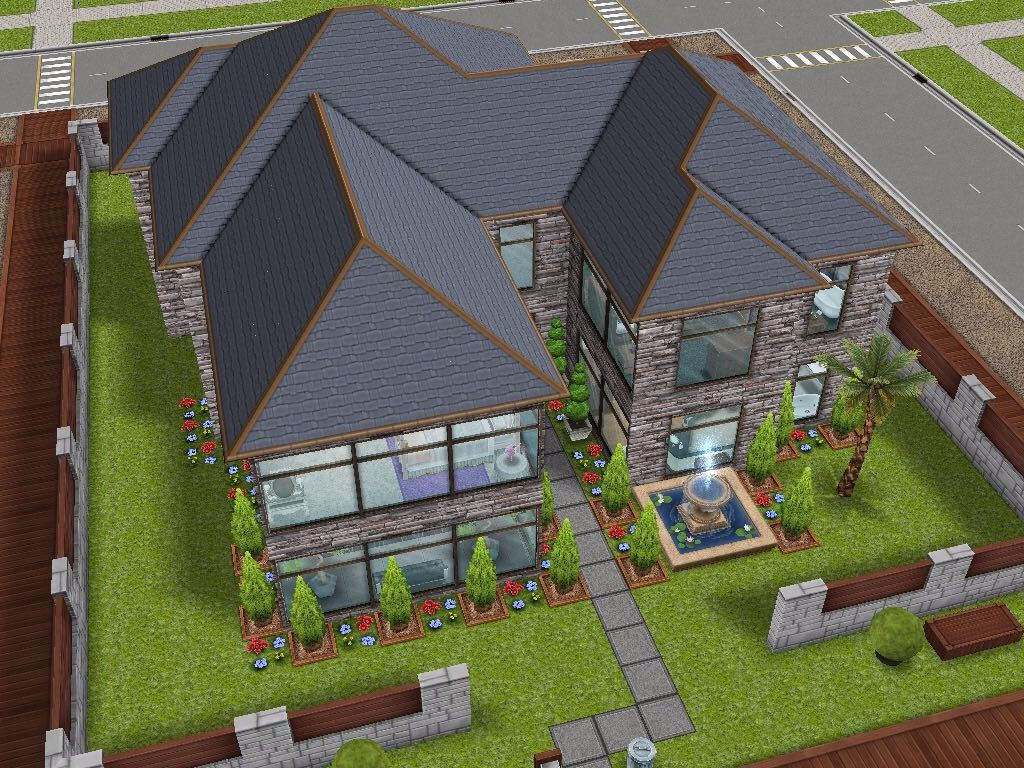 House 59 full view #sims #simsfreeplay #simshousedesign | My Sims ...