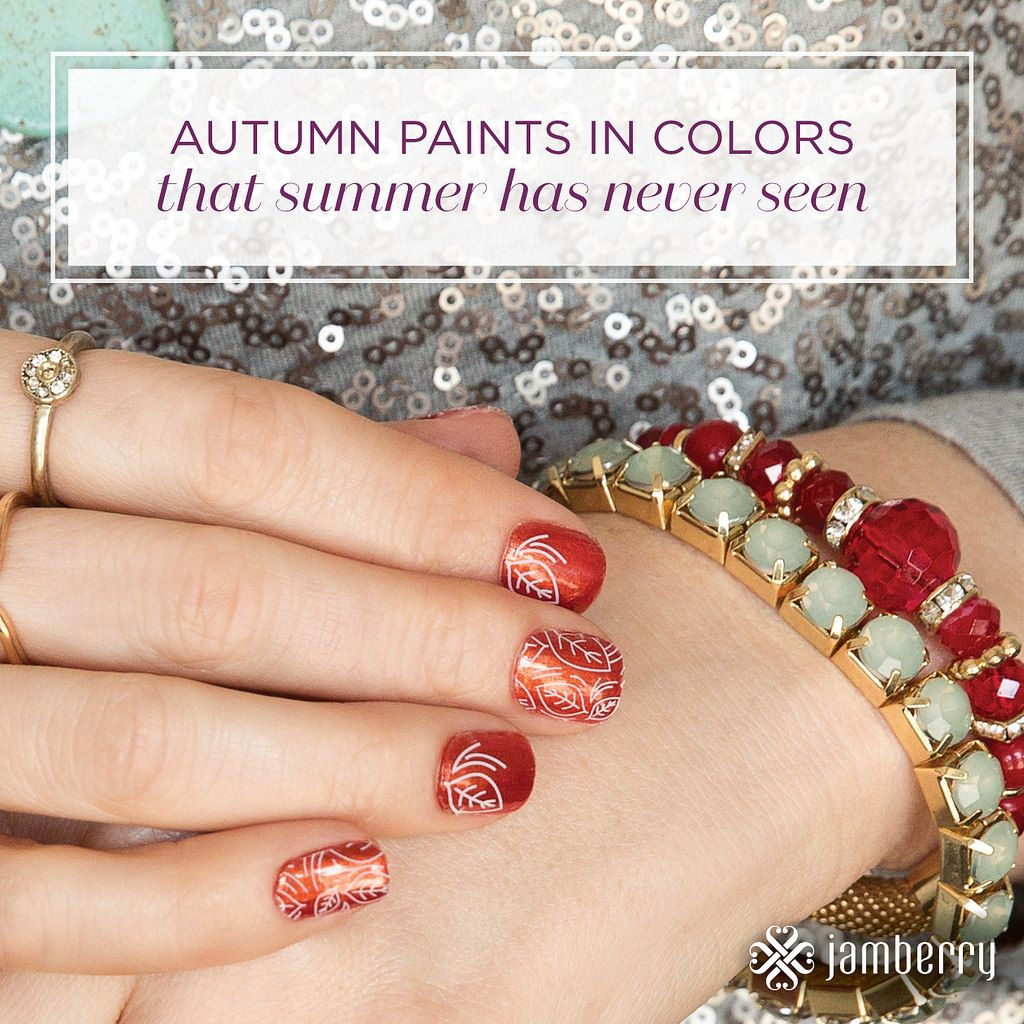 I can feel the seasons changing! Change your nails along with them!  Check out my website bellinitips.jamberry.com  for more info!