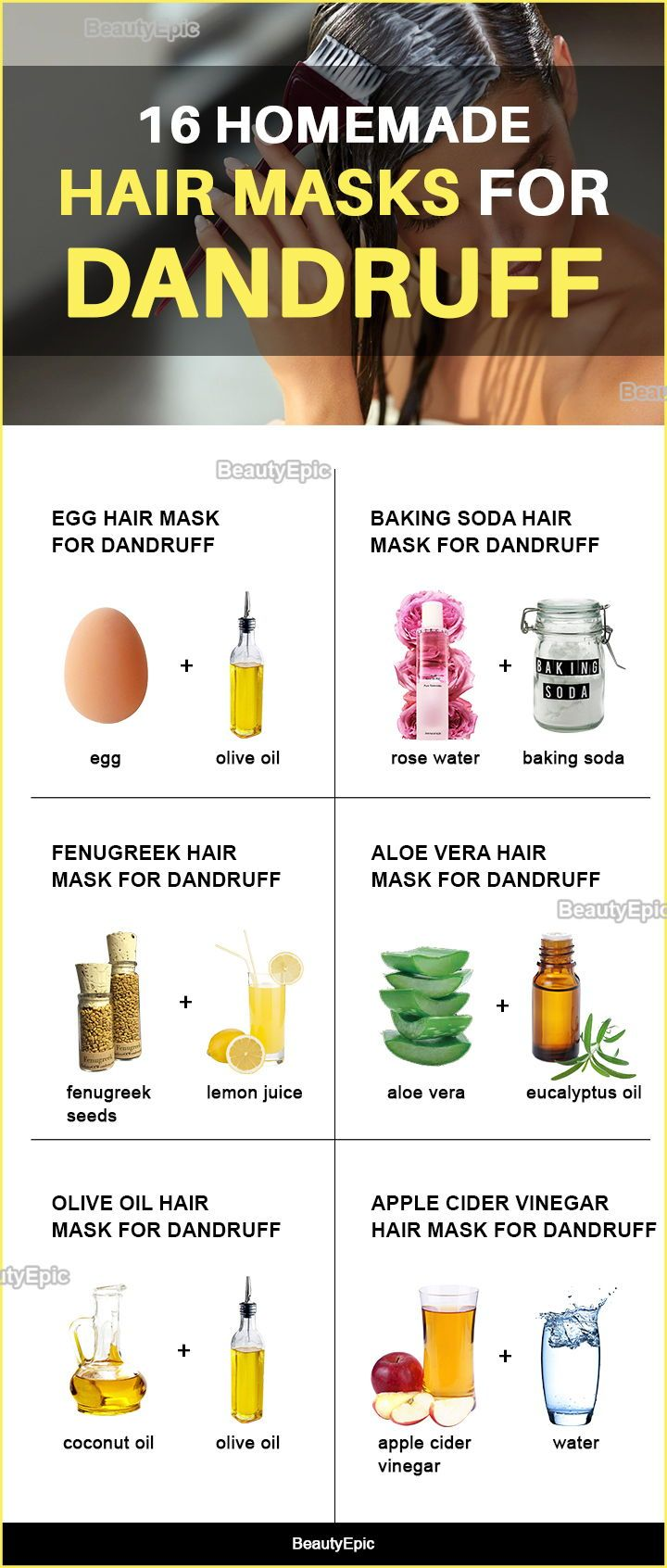 Homemade Hair Masks for Dandruff Recipes and How to Apply