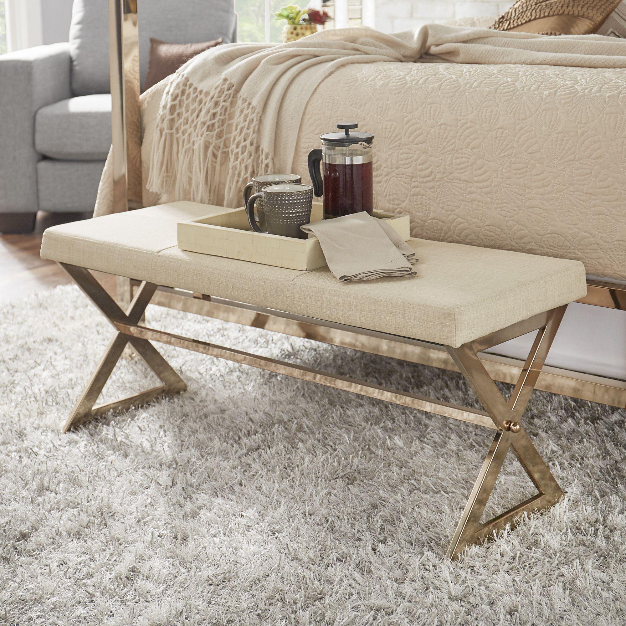 Image Result For Champagne Gold Bedroom Set Upholstered Bench