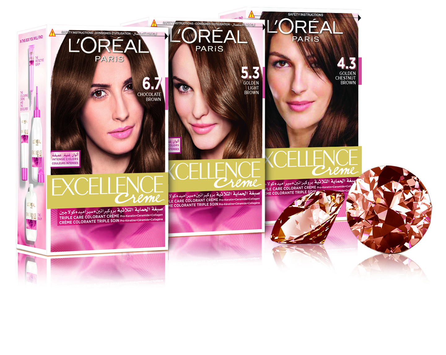 Ambassador Of Fashion Platform Where Beauty Meets Fashion L Oreal Paris Excellence Creme Launches New Gemstone Collection In Collaboration With Couturier No Hair Color Shades Hair Color Loreal