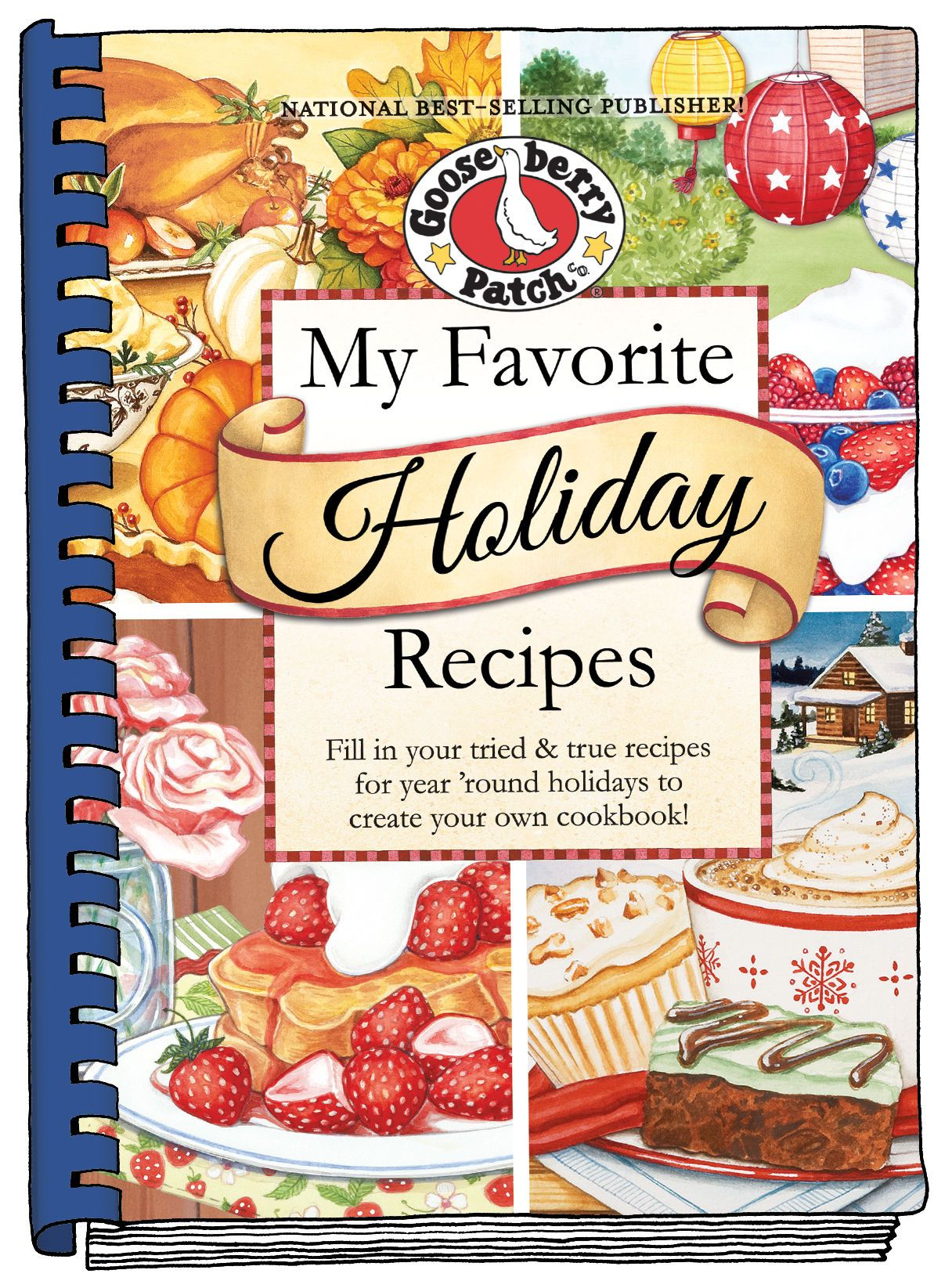 my favorite holiday recipes a new blank cookbook from gooseberry
