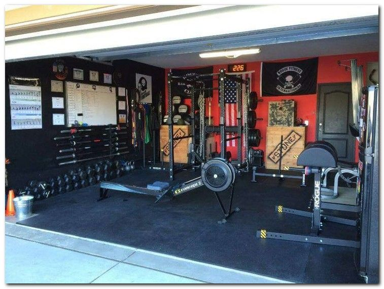 Setup gym ideas on small home garage and