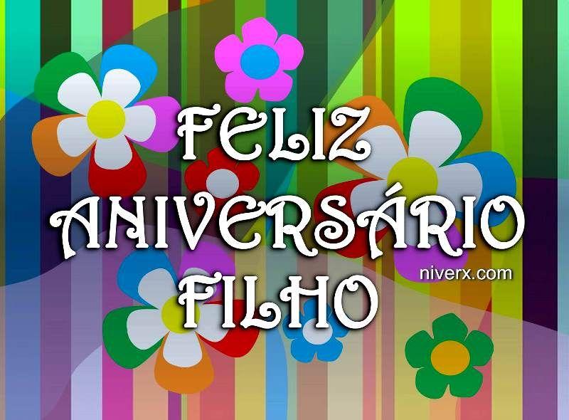 Feliz Aniversário Para Filho Querido Celular Whatsapp Facebook C41