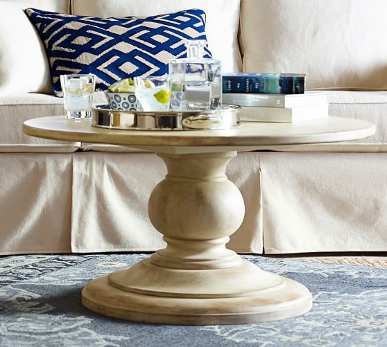 Diam X H Dawson Round Pedestal Coffee Table Pottery - Pottery barn small coffee table