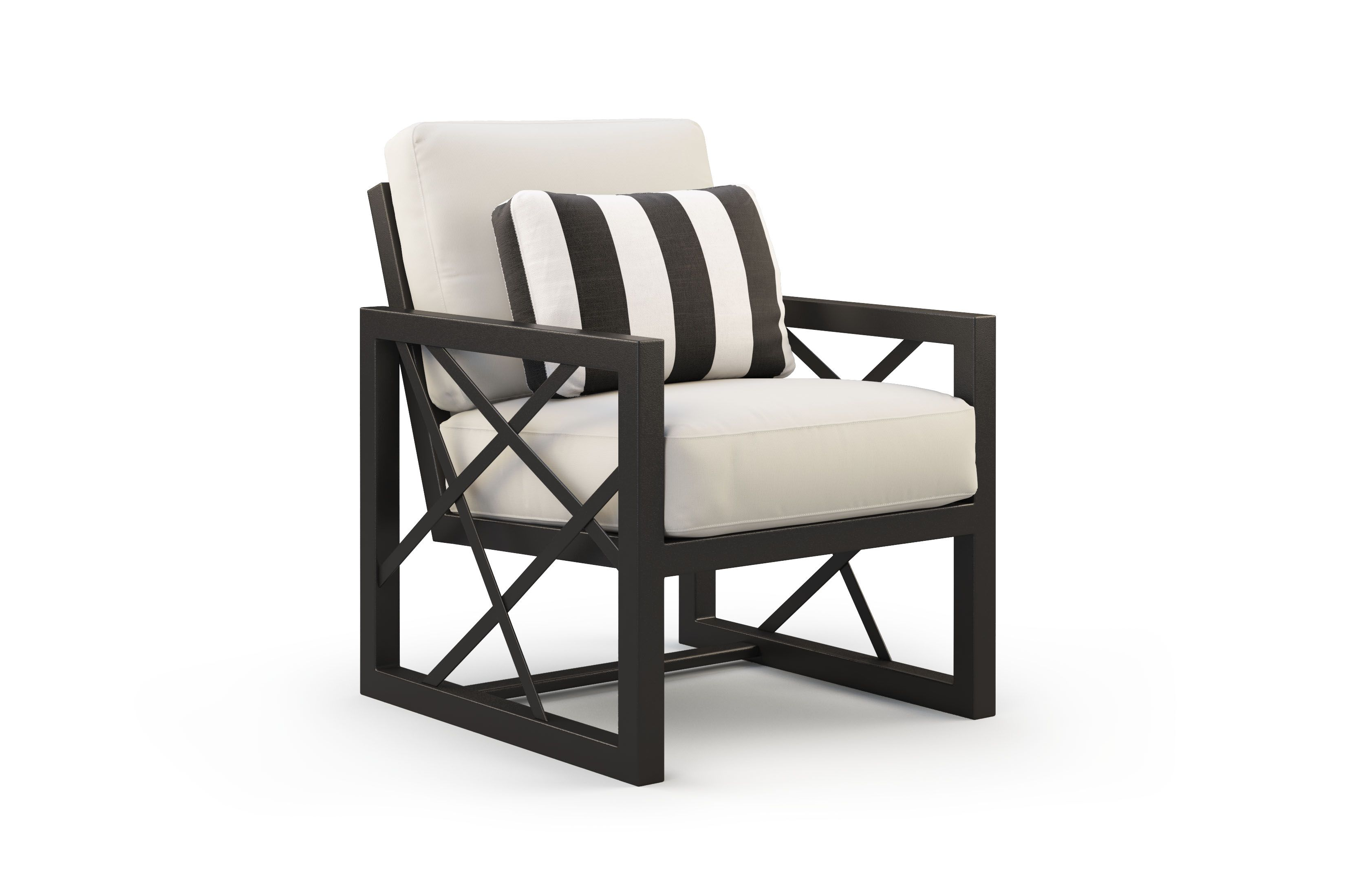Palm Springs Cushioned Lounge Chair Industrial Design Furniture
