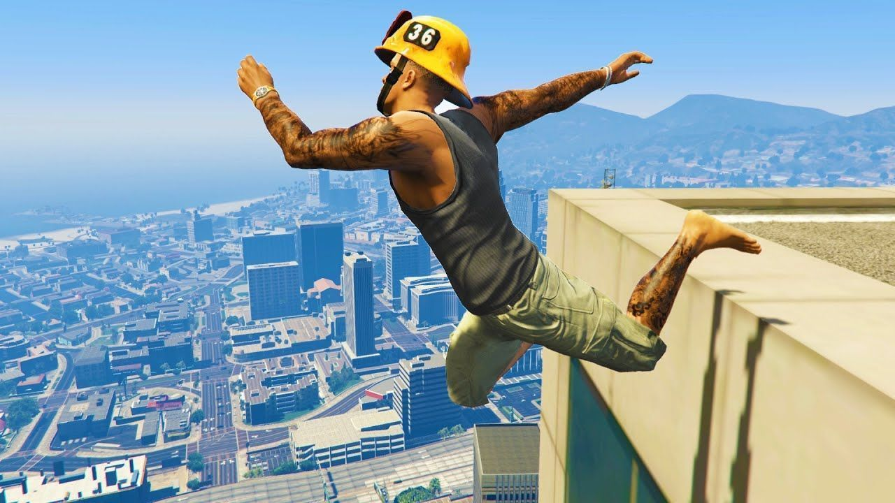 Gta 5 Funny Crazy Jump Compilation Gta V Fails Funny Moments