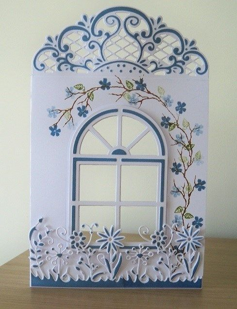 8 Lovely Opening Window Die Cuts Spellbinders No.4 Many Colours Christmas