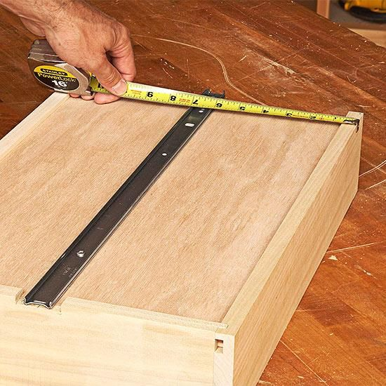 Kitchen Drawer Slides Small Tv How To Install Metal Undermount Center Diy