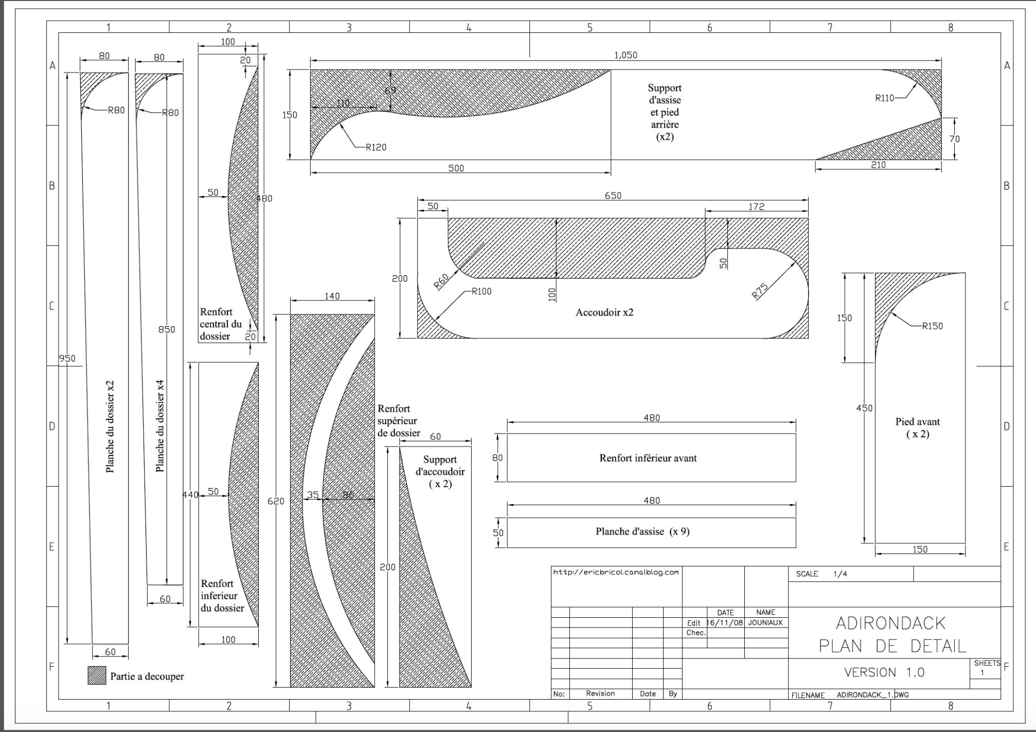 Coussin Pour Fauteuil Adirondack chaise adirondack plan pdf | fauteuil adirondack, chaise et