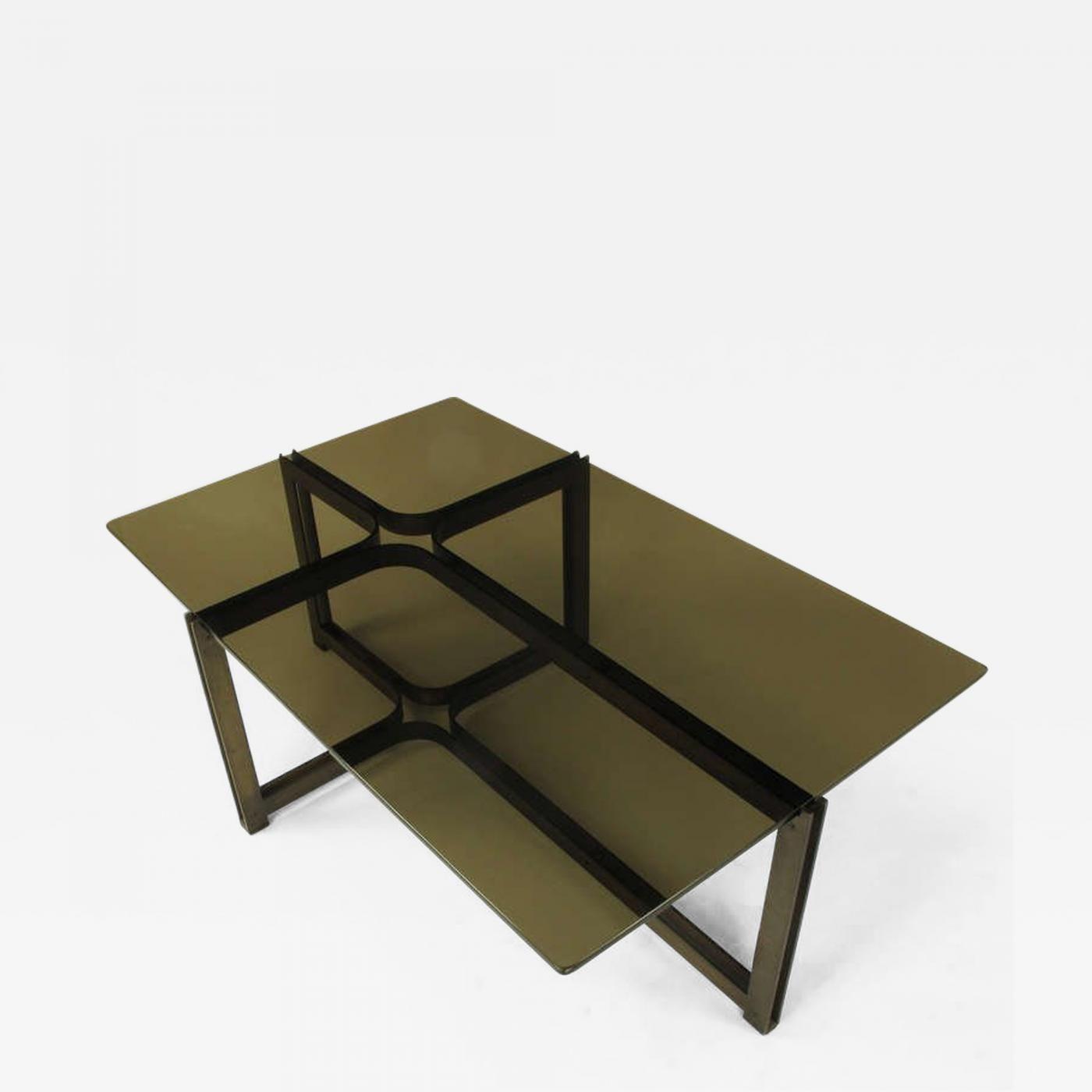Dunbar Tom Lopinski For Dunbar Bronze Rosewood And Smoked Glass Coffee Table Smoked Glass Glass Coffee Table Coffee Table [ 1400 x 1400 Pixel ]