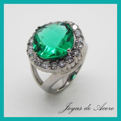 Anillo cristal verde, circones