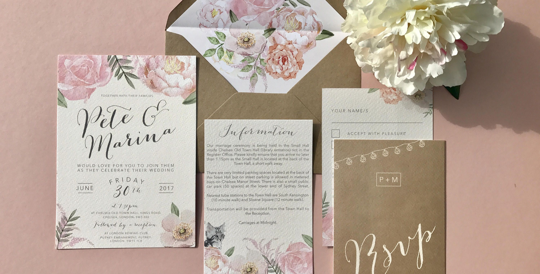 Floral Fancy wedding invite sample by SomethingKindaCutee on Etsy ...