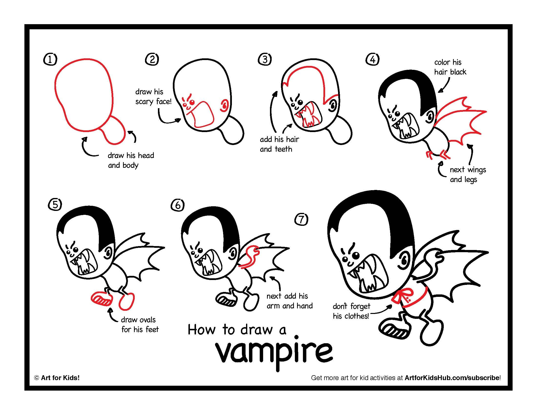 Download How To Draw A Vampire