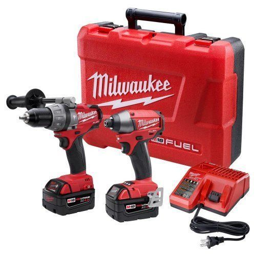 Milwaukee 2797-22 M18 Fuel Lithium 2-Tool Combo Kit + Hammer Hex Impact Drill in Home & Garden, Tools, Power Tools | eBay