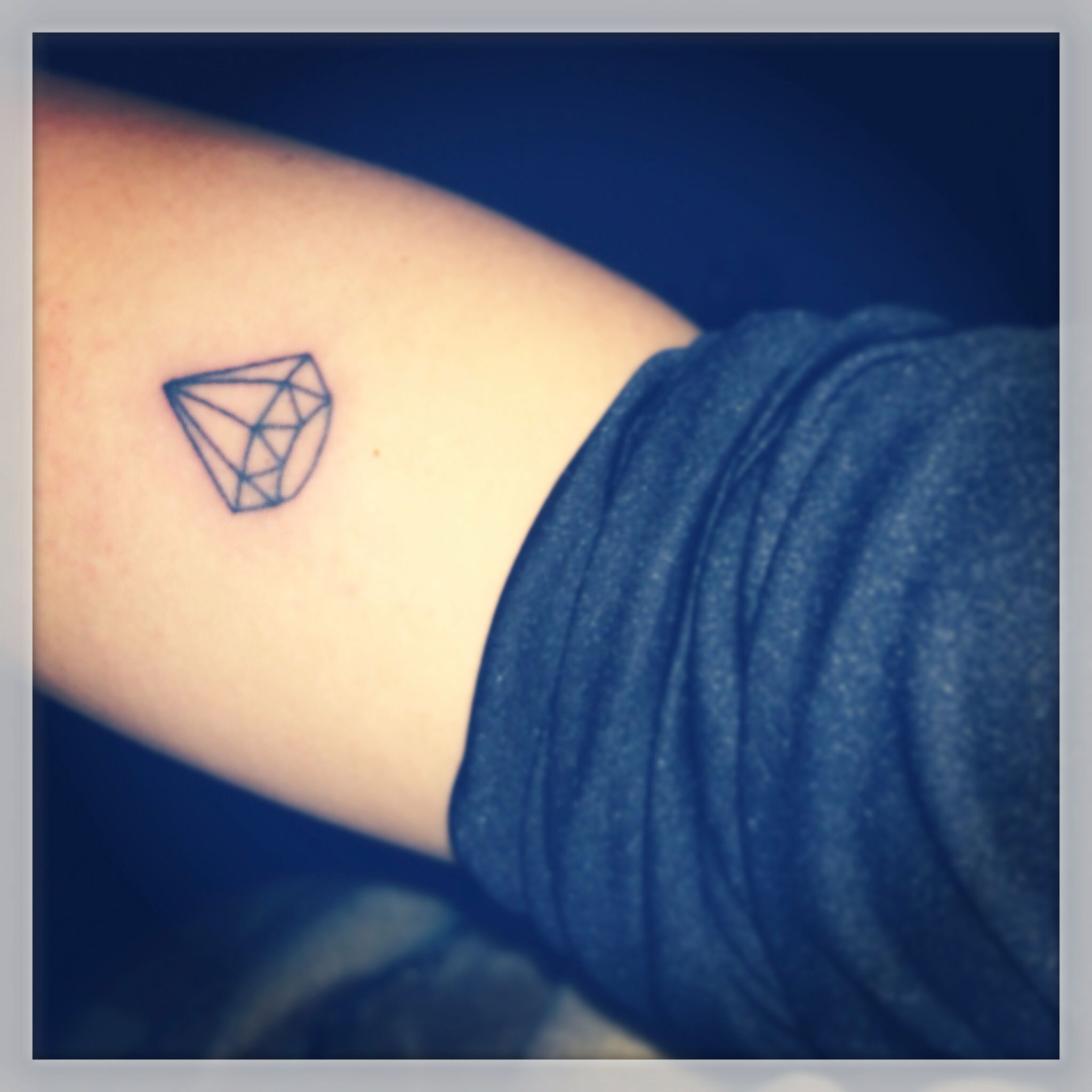 Cool tattoo ideas for brothers diamond tattoo outline ium thinking of getting this in honor of my