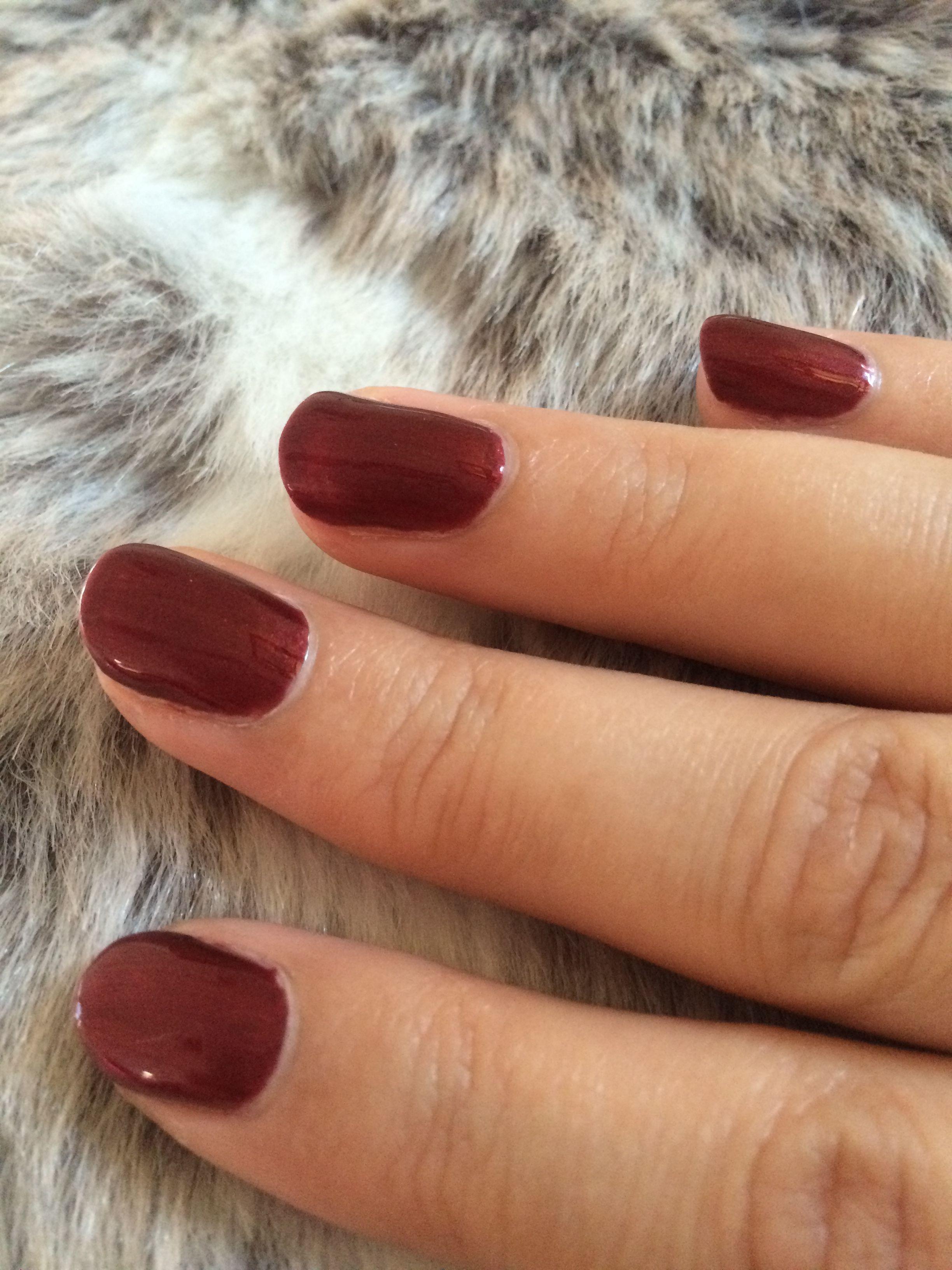 Autumnal dark red shellac Crimson sash | Nails Nails Nails ...