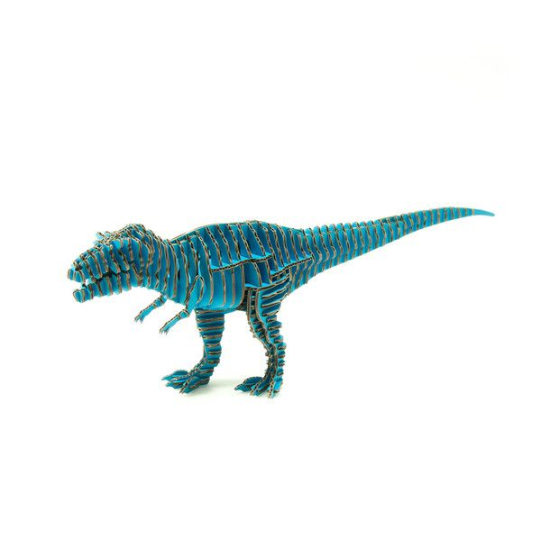 TRex Blue Cardboard animals, Lego art, Get off my lawn