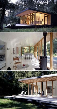 Summer house in denmark the style files love top pic way inside flows to outside and clearing is surrounded by tall trees off grid also rh pinterest