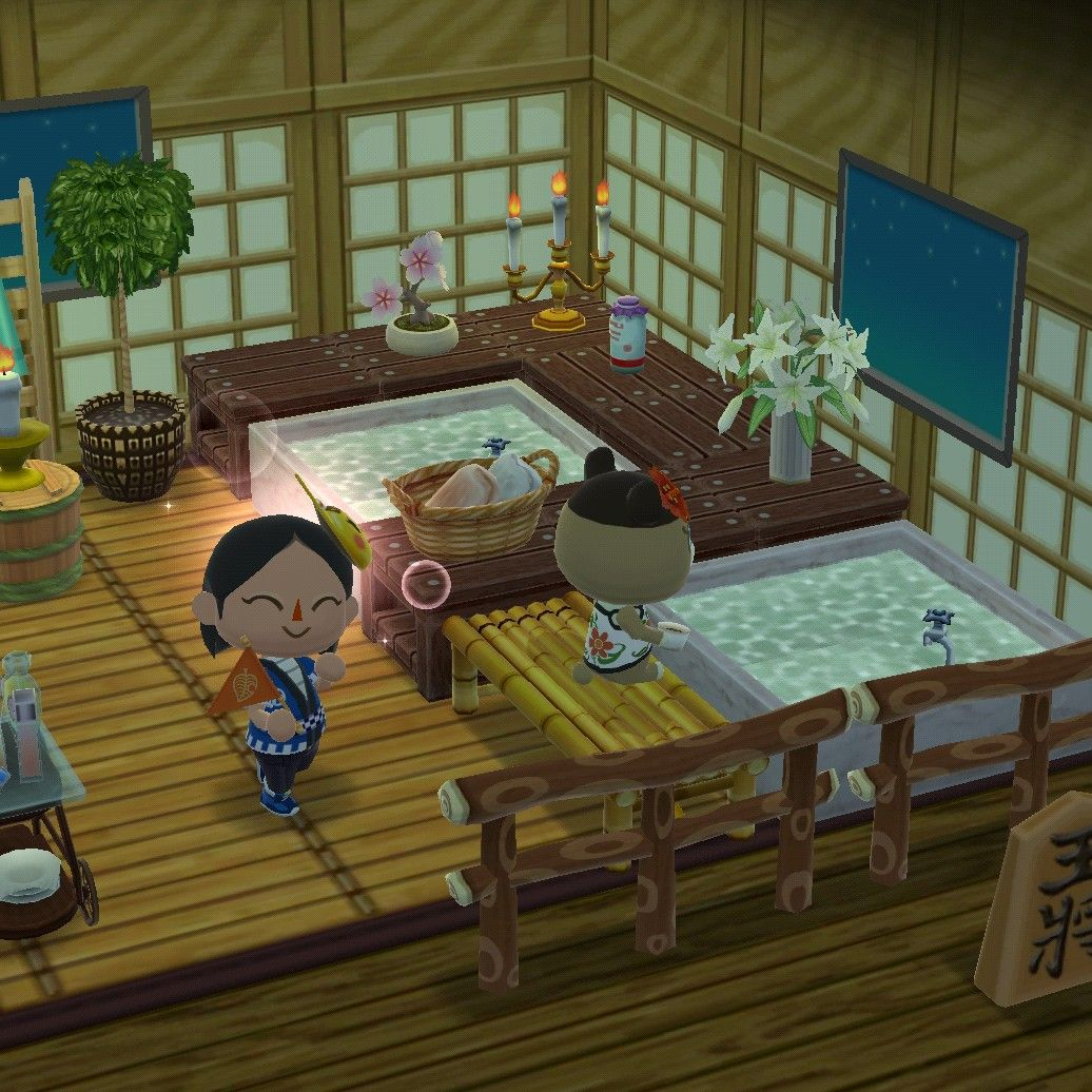 Japanese Bathhouse Animal Crossing Cabin Pocket Camp In