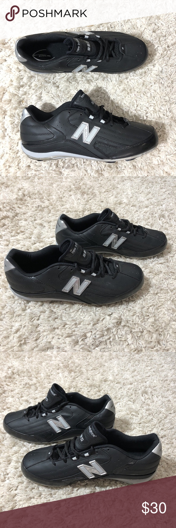 c3a2d090e2e96 New Balance 990 Men Size 11 Football Cleats Black New Balance 990 black and  silver foot ball cleats cleats & cleat tool are in bag; black laces; ...