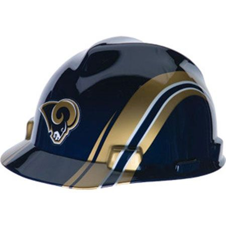 0df4877cb Los Angeles Rams Hard Hat NFL Construction Safety Helmet