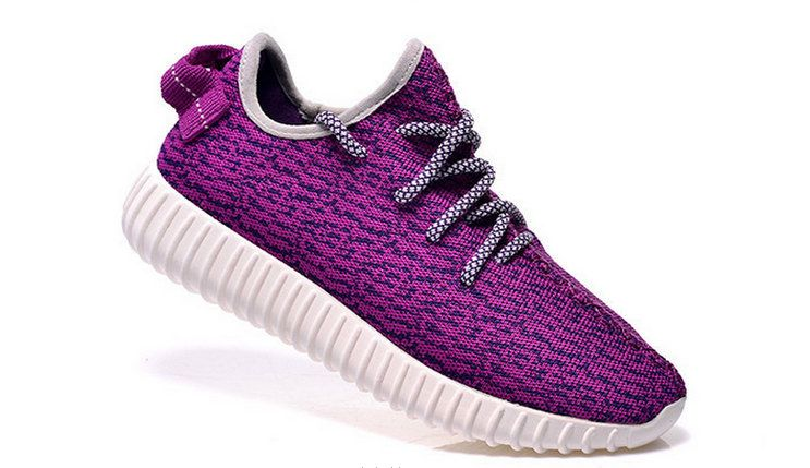 custom adidas yeezy boost 350 kanye west purple/white sneakers run athletic  womens shoes by