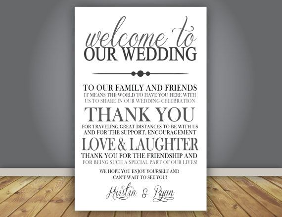 ADD-ON Thank You Note, Wedding Program add on, Guest Thank You ...
