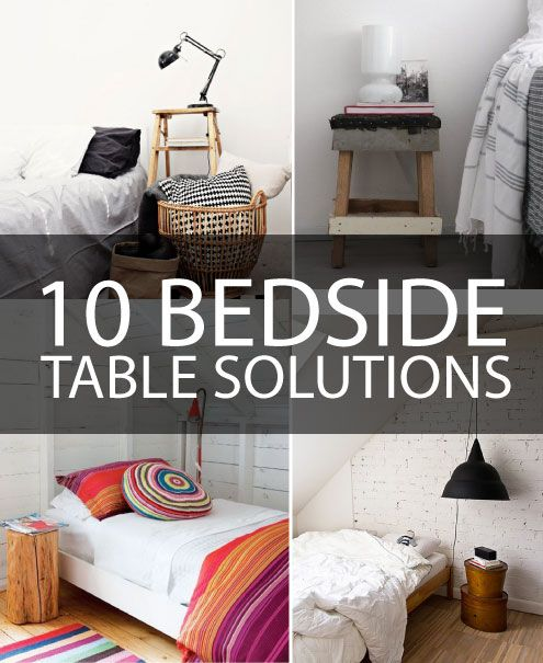 10 Alternative Bedside Table Solutions... I Feel Like Anything Is Probably  Better Than Part 63