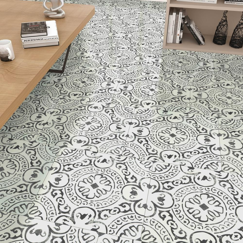 Home Decorators Collection Frosty Shadow 18 In X 18 In Luxury Vinyl Tile Flooring 22 76 Sq Ft Case Vtrhdfrosh18x18 The Home Depot In 2020 Luxury Vinyl Tile Flooring Vinyl Tile Flooring Luxury Vinyl Tile