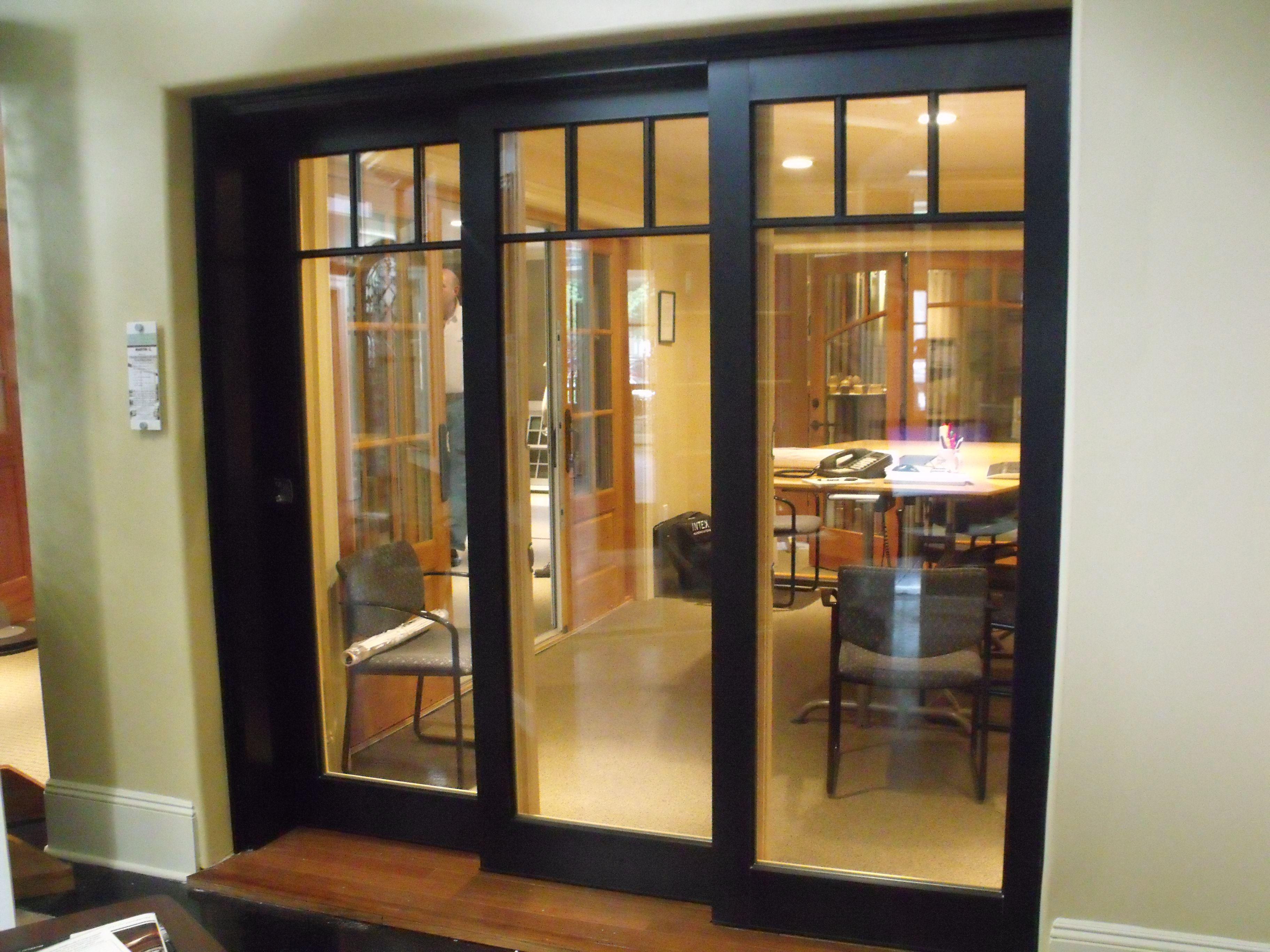 The Marvin Ultimate Lift And Slide Door In Our Showroom In Asbury Park Nj Remodel Sliding Doors Doors