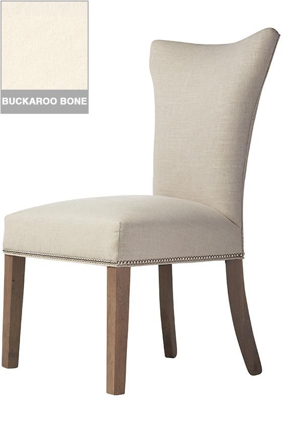 Custom Contemporary Curved Back Parsons Chair
