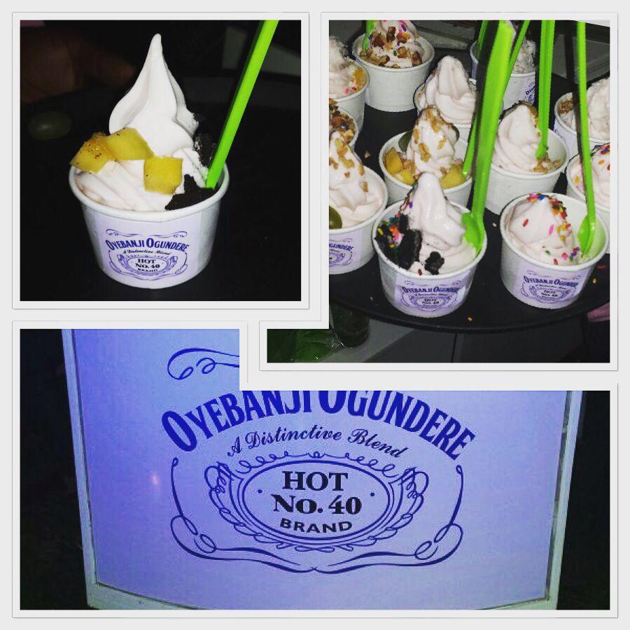 Frozen Yogurt Theme Birthday Banner Froyo Theme