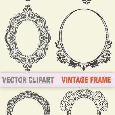 Vector Vintage Frame Large Vintage Frames Vector Vintage Frames Clip Art Vintage