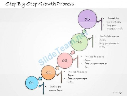 1013 Business Ppt Diagram Step By Step Growth Process Powerpoint - flowchart templates word